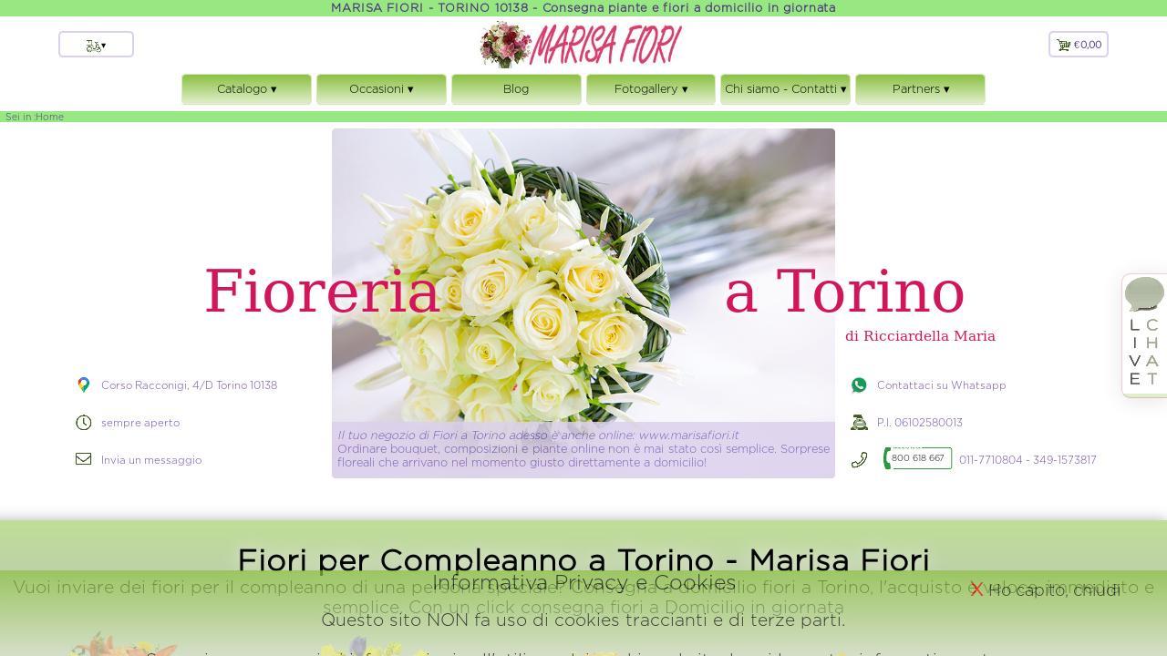 Acquisto Fiori On Line.Consegna Piante E Fiori A Domicilio In Giornata A Torino 10138 Con